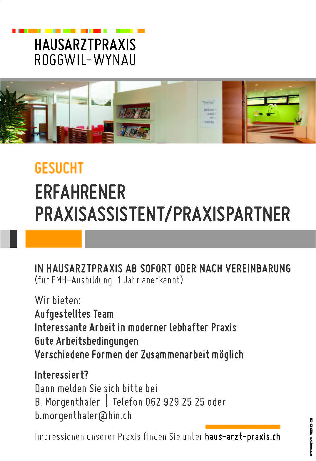 ERFAHRENER PRAXISASSISTENT/PRAXISPARTNER